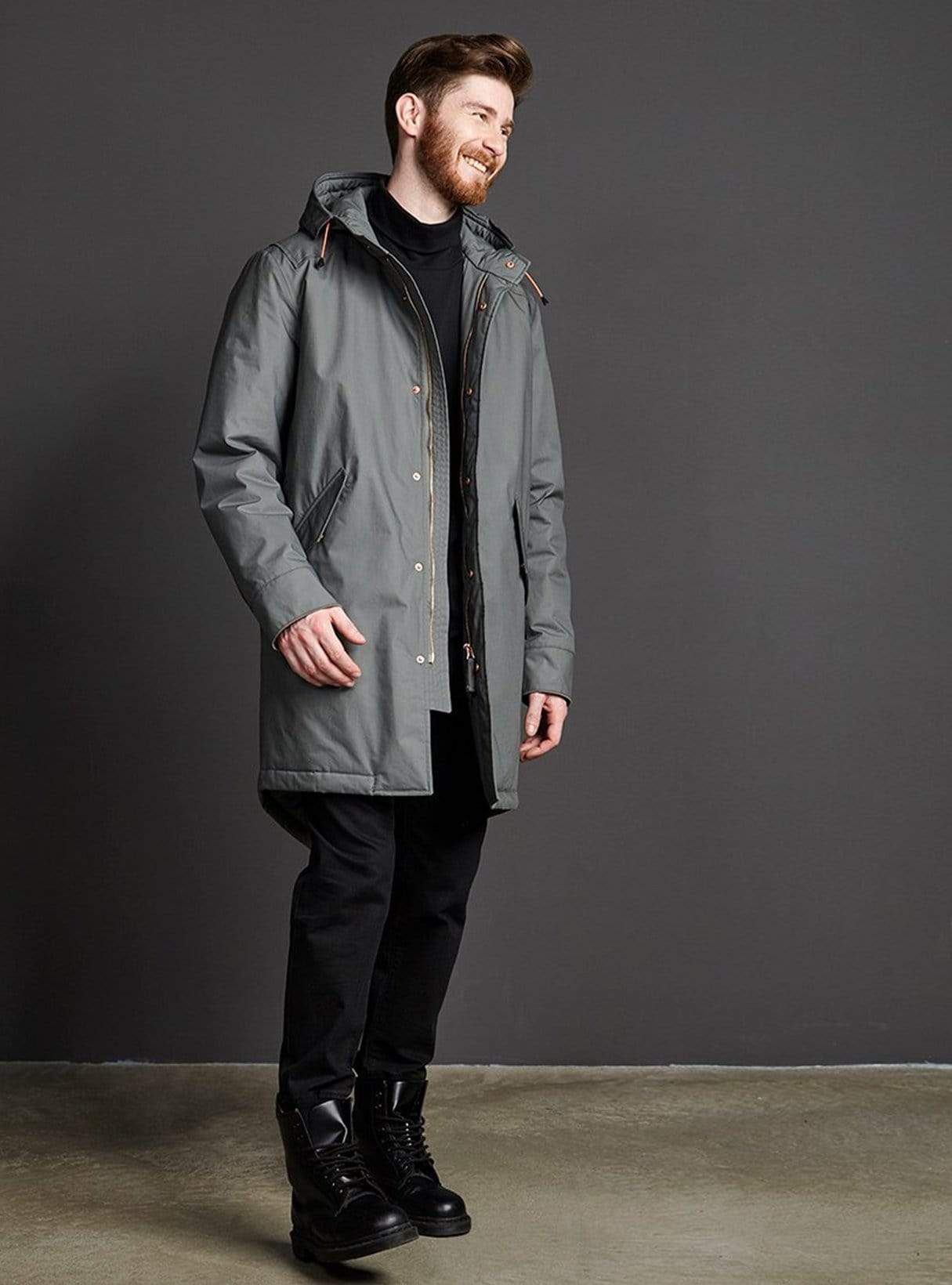 Storm pop padded coat - cool mud