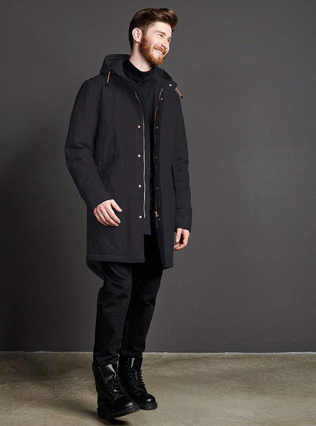Storm pop padded coat - midnight black