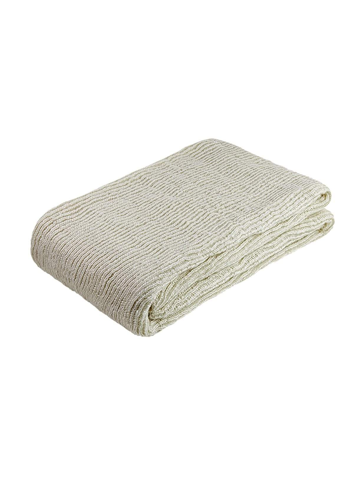 Knitted throw - natural - 130 x 180cm