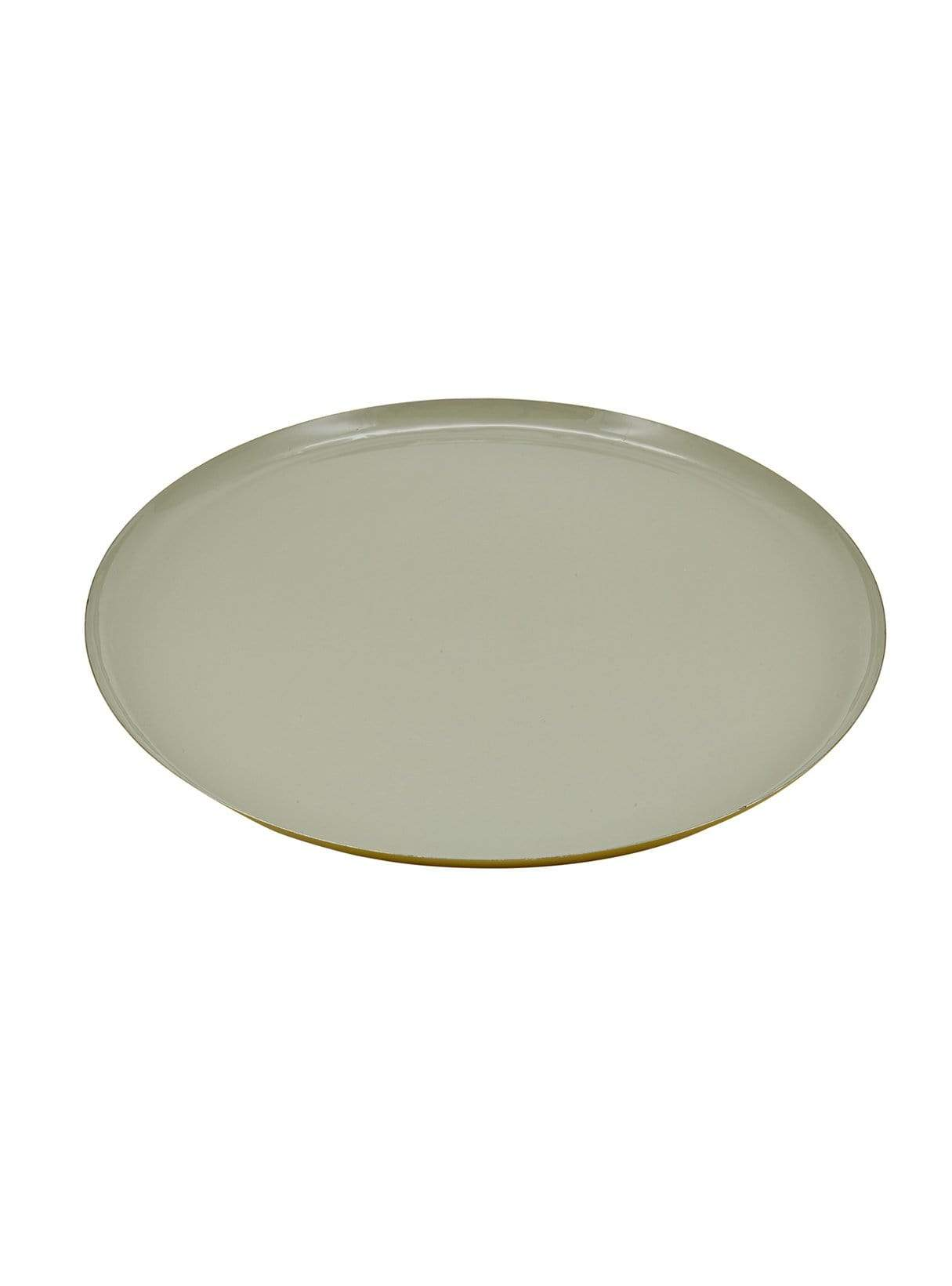 Round tray - grey enamelled - 44cm