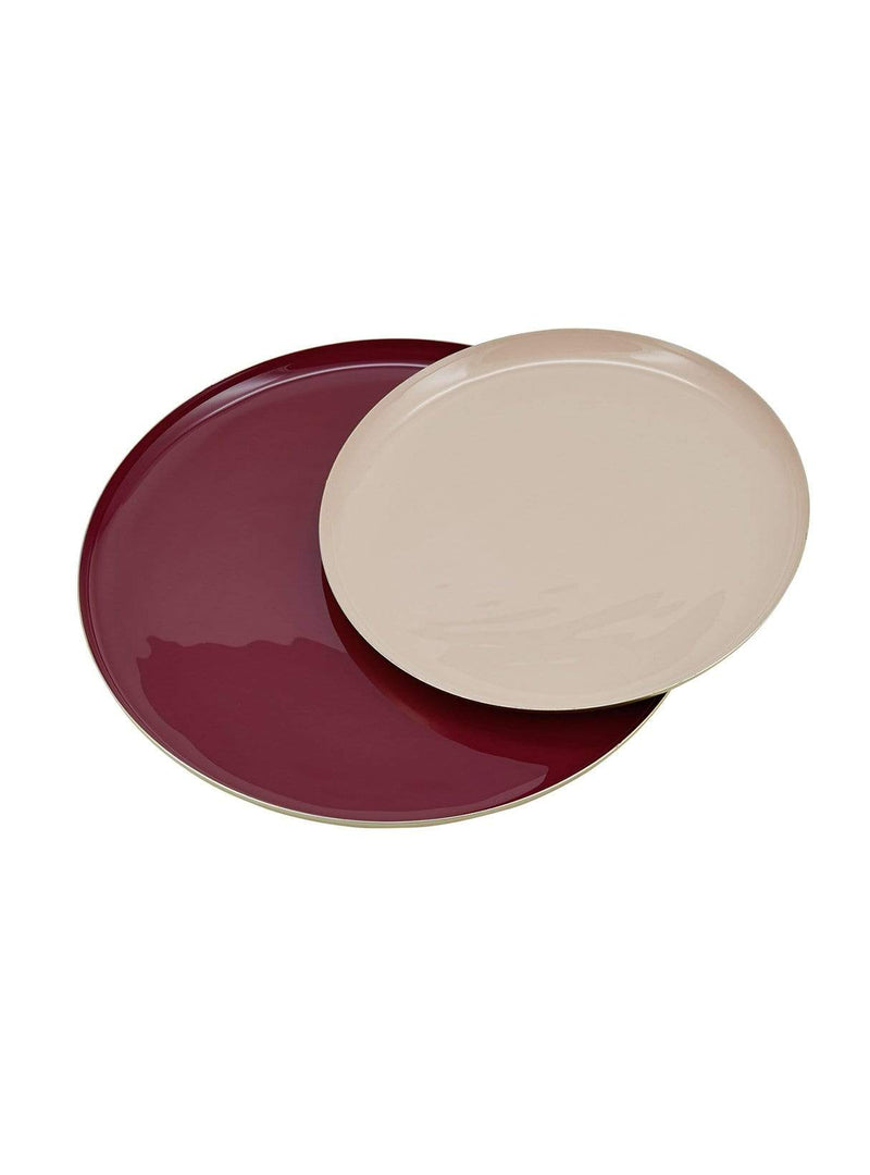 LIV interior home Round tray set - rouge/mauve - 22+30cm