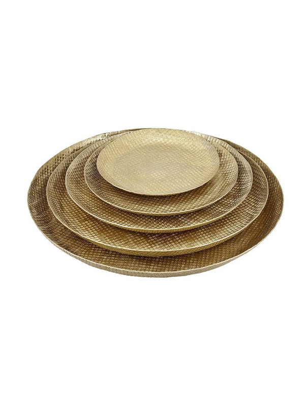 LIV interior home Tray - brass finish - 25cm