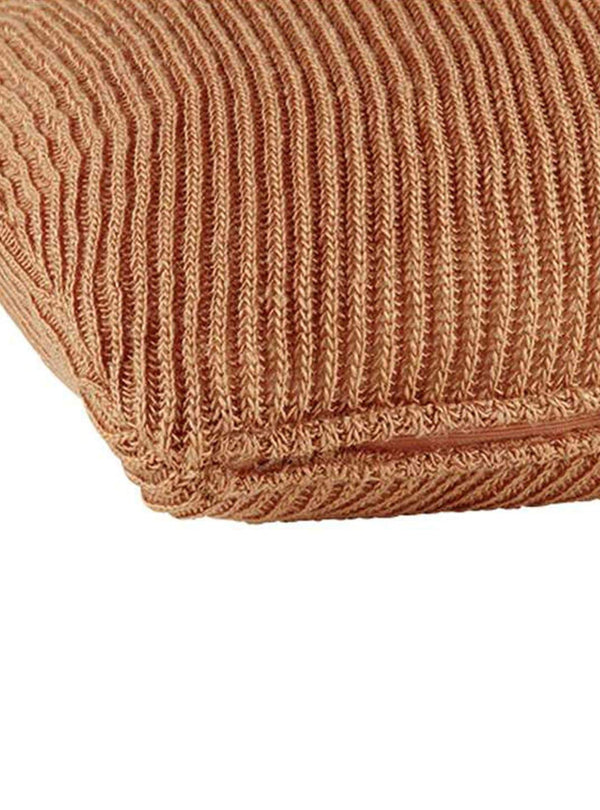 liv interior Living room Knit cushion 45x45cm - terracotta