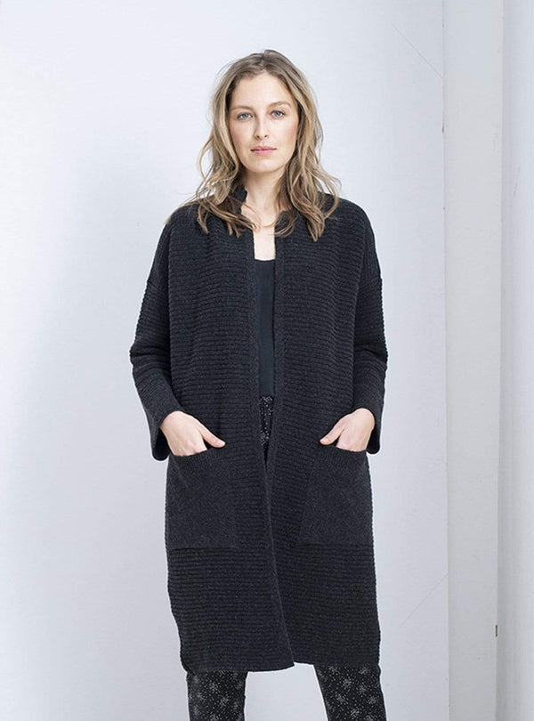 loop.a life Womens cardigans Every day cardigan - anthracite