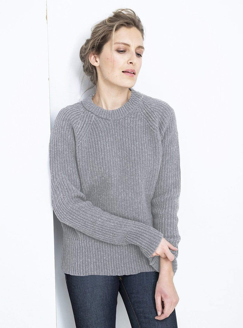 loop.a life Womens sweaters Easy going sweater - light grey