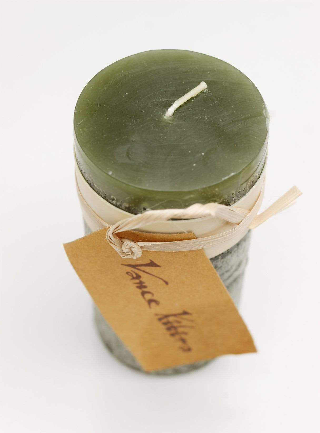Timber Candle -  10 cm - hunting green