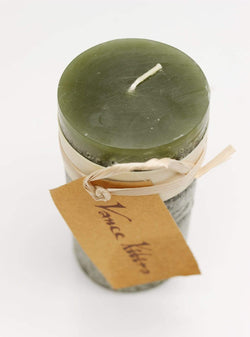 Luebech Living home Timber Candle -  10 cm - hunting green