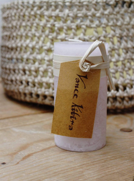 Timber Candle -  10 cm - soft pink