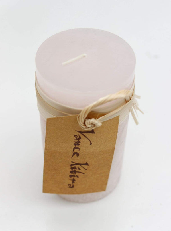 Luebech Living home Timber Candle -  10 cm - soft pink