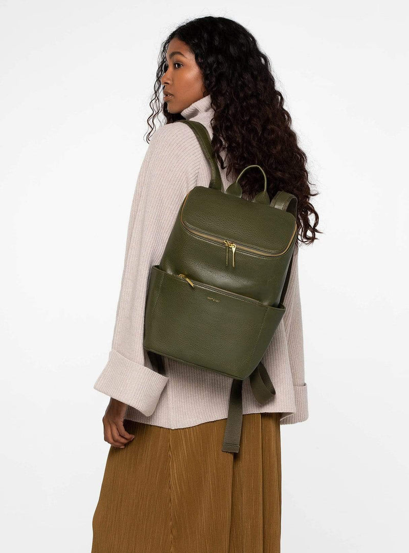 Matt & Nat bags Brave dwell - backpack - leaf