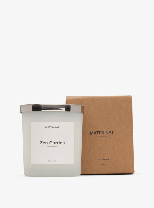 Matt & Nat home Zen garden cancle - white