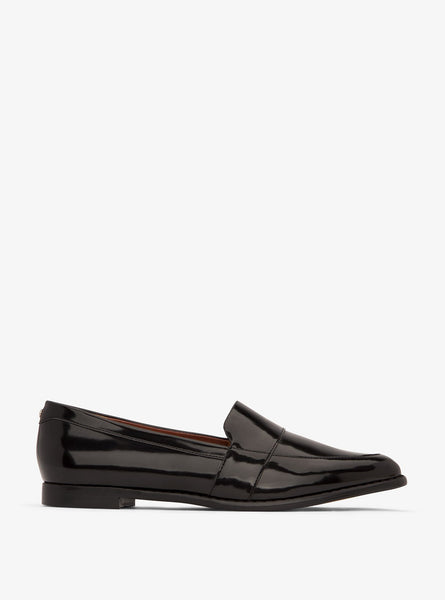 Izabel pointed toe loafers - black