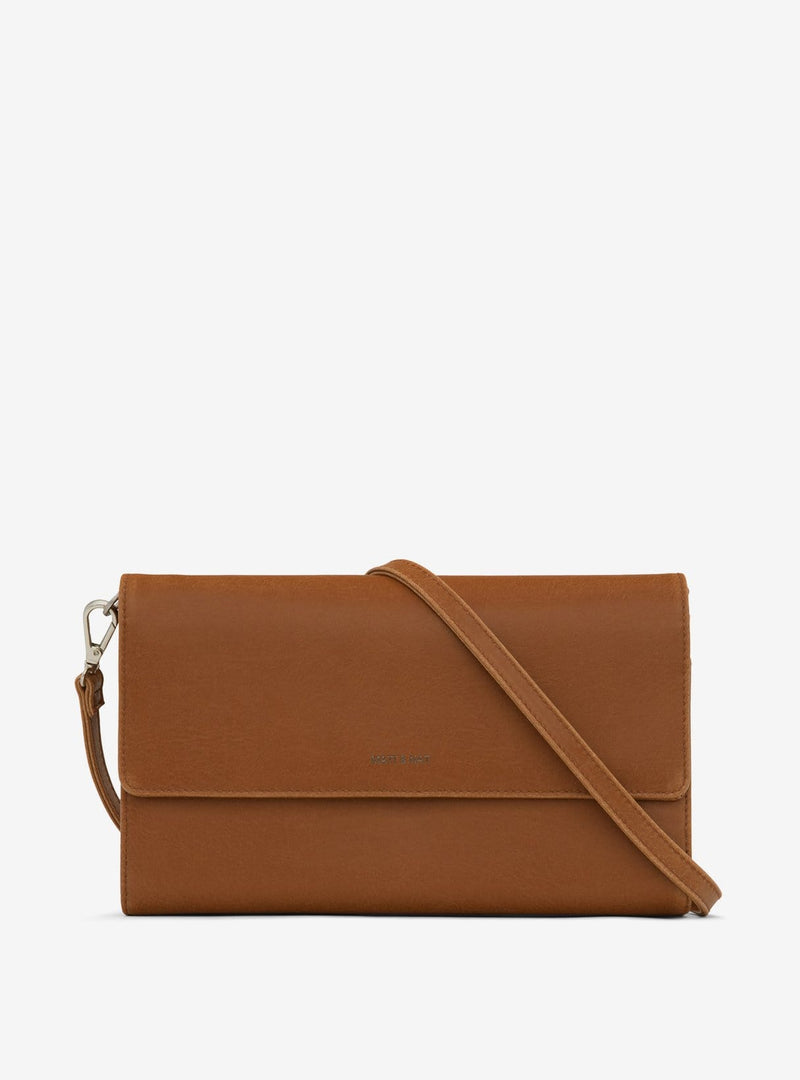 matt & nat Womens bags Drew vintage - crossbody bag - chili matte nickel - large