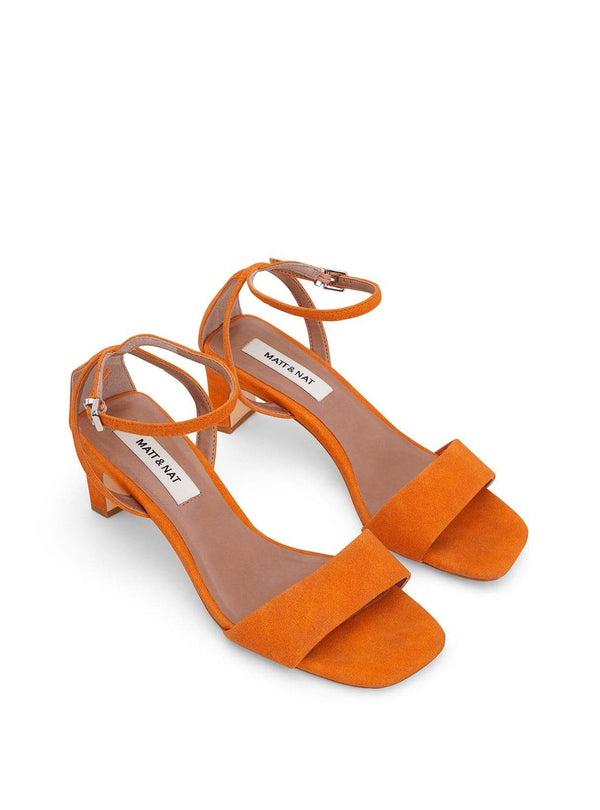 matt & nat Womens shoes Elodie - block heel sandal - orange