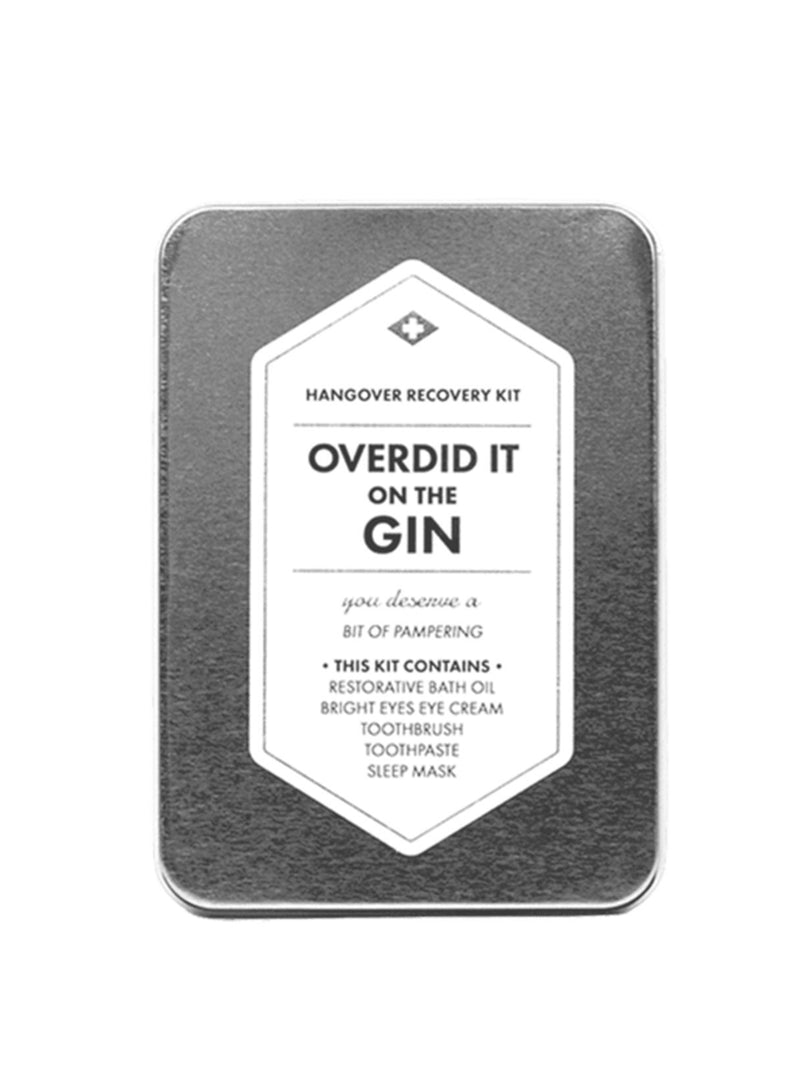 Men's Society care Hangover recovery kit - overdid it on the gin