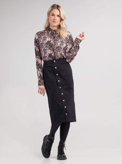 Miss Green skirt Beautiful morning - midi skirt - black