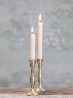 Nkuku home Jahi - brass candlestick - brushed gold