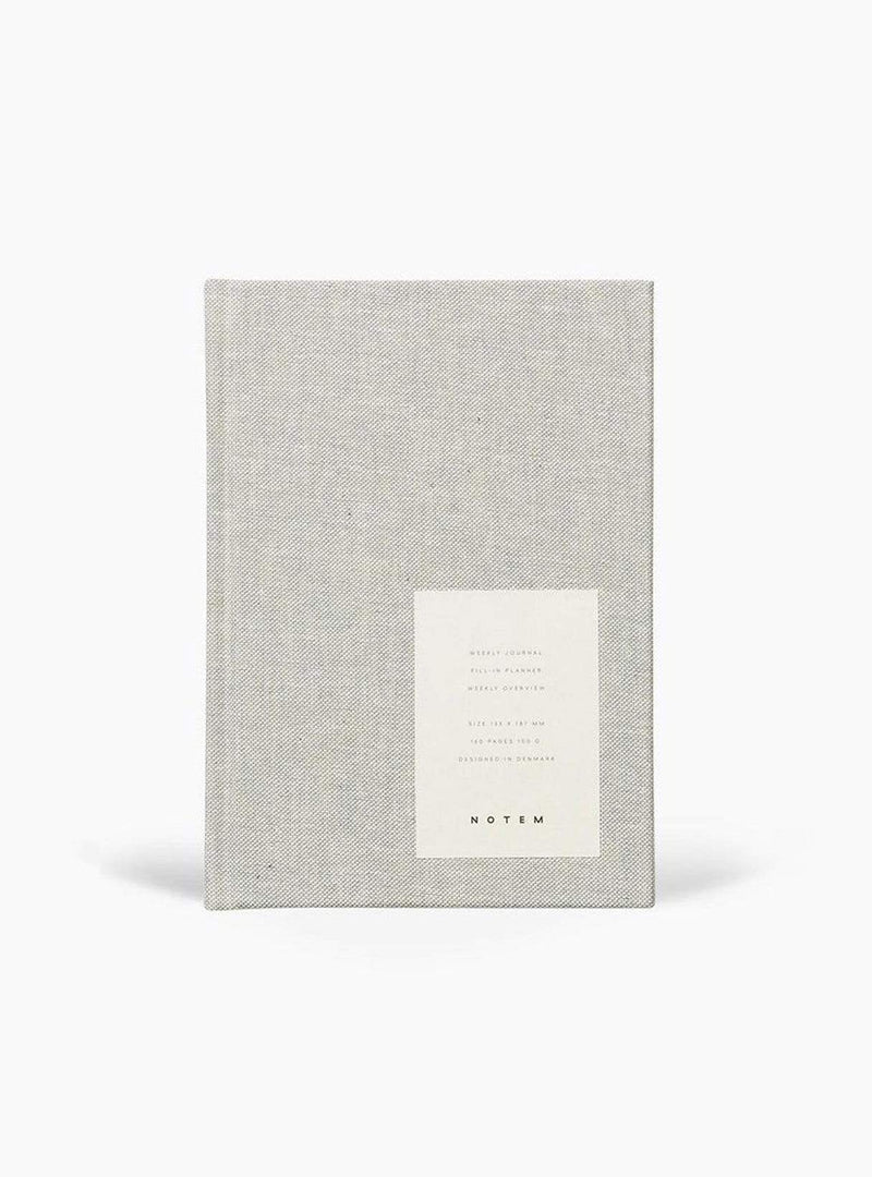 Notem stationary Planner weekly journal medium - light gray