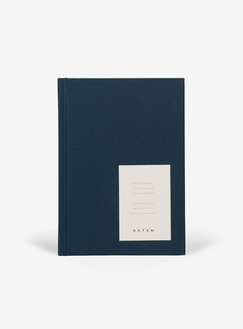 notem Stationery EVEN weekly journal medium - dusty blue