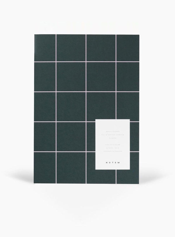 notem Stationery Milo weekly planner book - dark green