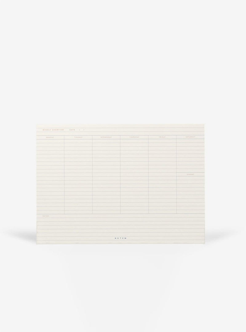 notem Stationery Milo weekly planner book - light gray