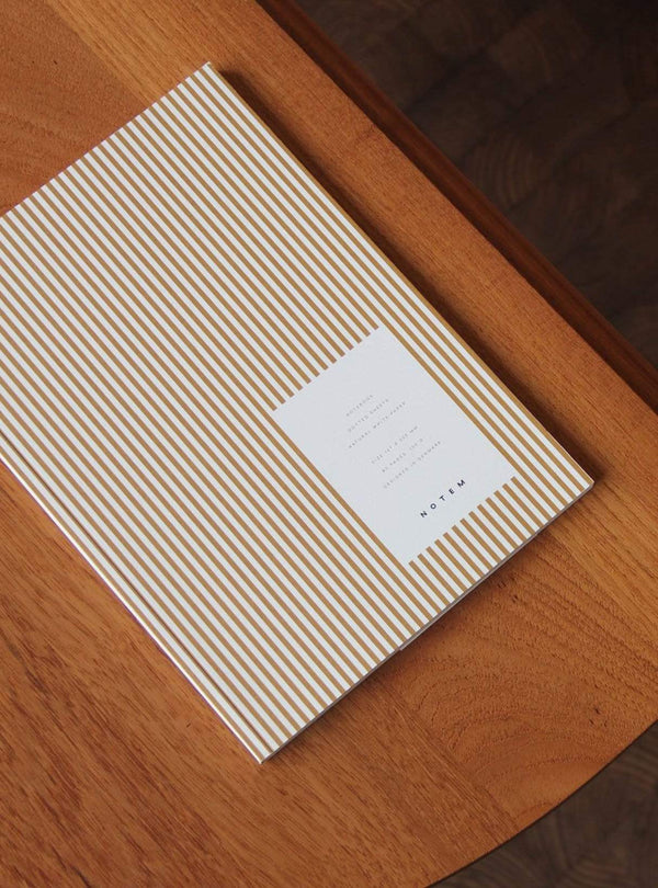 notem Stationery VITA notebook medium - ochre lines