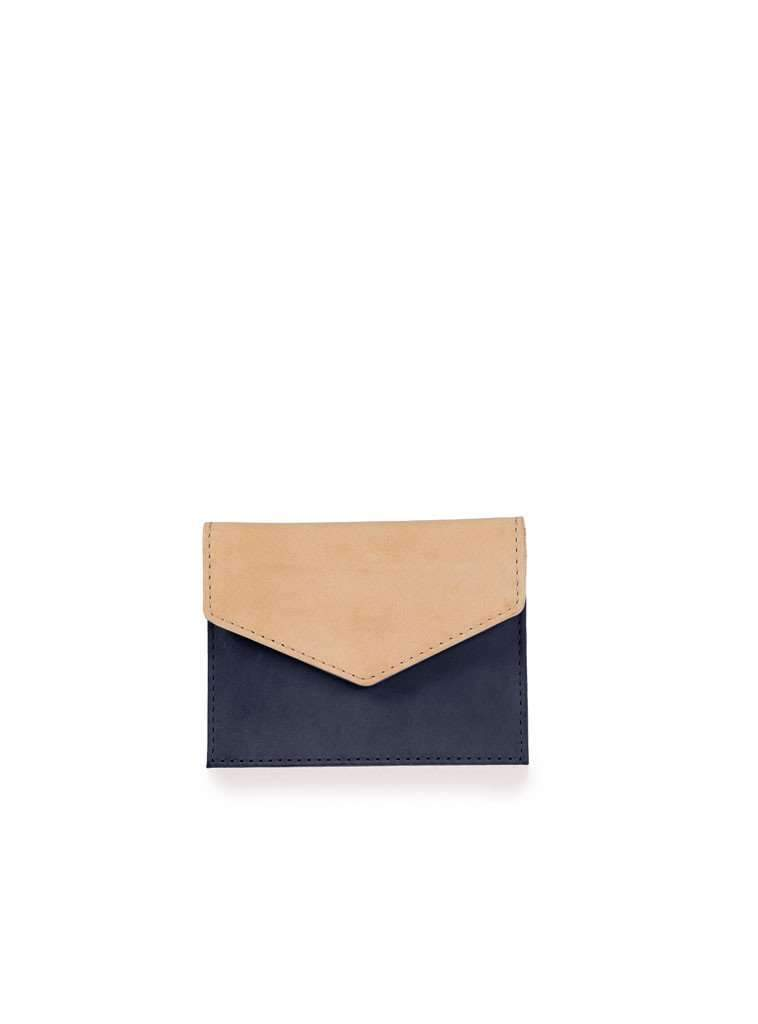 Envelope cardholder - eco classic natural/navy