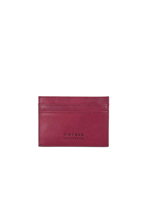 Mark's - card case - ruby classic leather