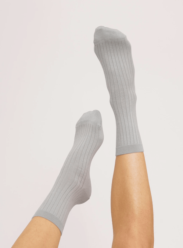 organic basics Womens socks Organic cotton - rib socks - cloudy blue - 2-pack