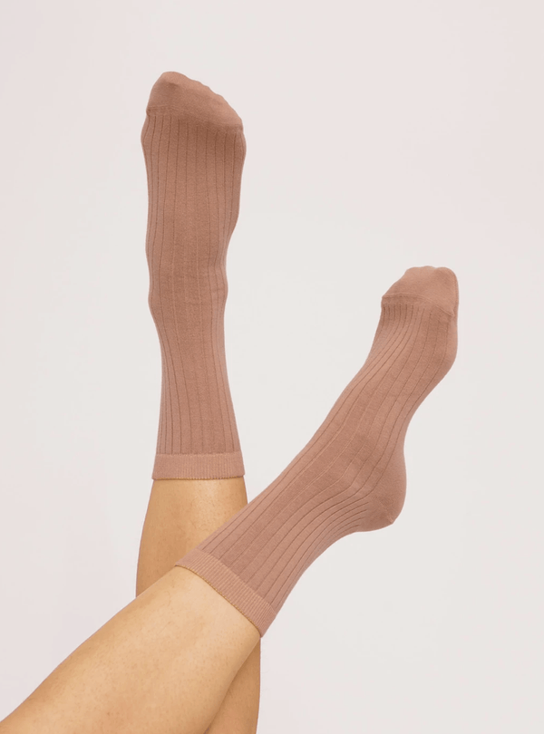 organic basics Womens socks Organic cotton - rib socks - dusty rose - 2-pack