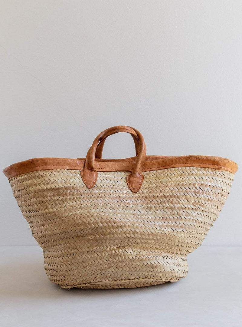 Julia - vintage straw market bag