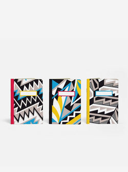 papier tigre Stationery 3 pocket notebooks - anasazi - multi coloured