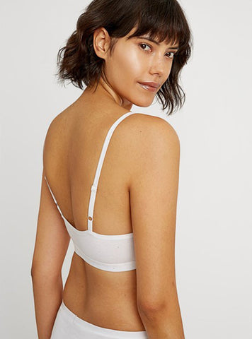 People Tree accessories XS Soft bra top - white
