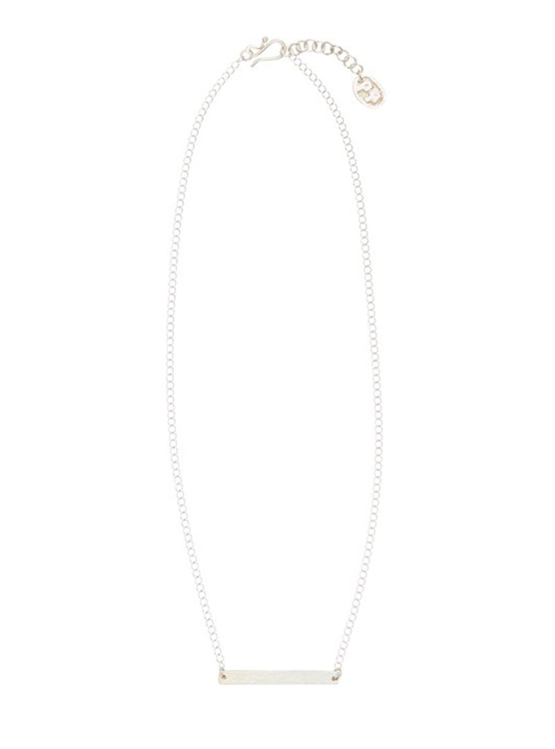 People Tree jewellery Beaten bar necklace - silver