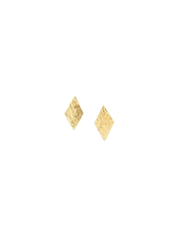 People tree jewellery Diamond stud earrings - brass