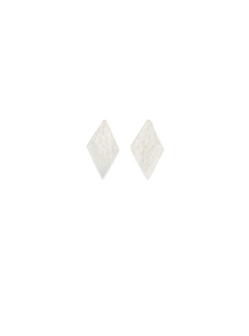 People Tree jewellery Diamond stud earrings - silver