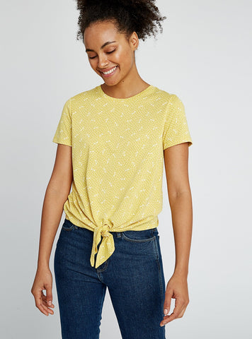 Cassie dragonfly top - yellow