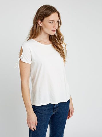 Jersey emery top - eco white