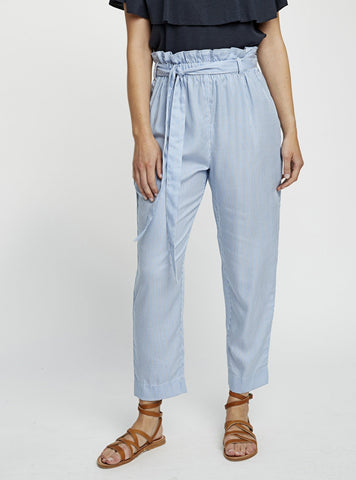 Suki stripe trousers - blue