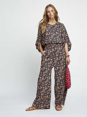 Yasmin print trousers - multicoloured