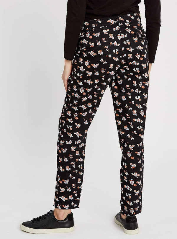 People tree trousers Candice floral trousers - black