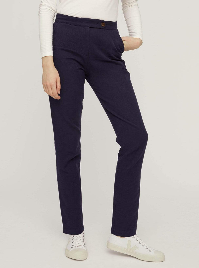 People tree trousers Cynthia trousers - navy