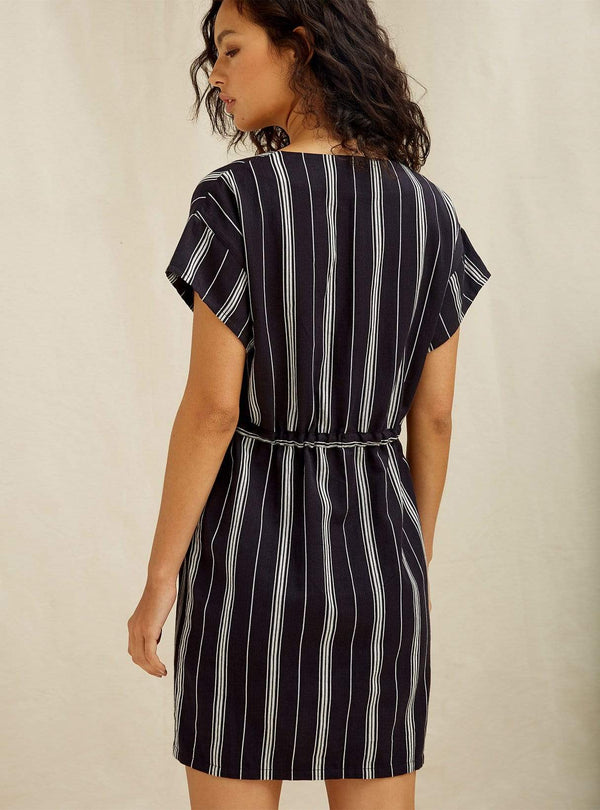 people tree Womens dresses Tess - stripe dress - navy