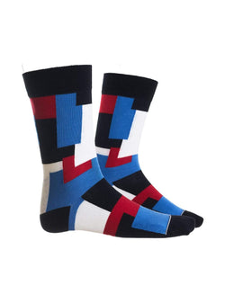 qnoop Mens socks Camo - cycle blue