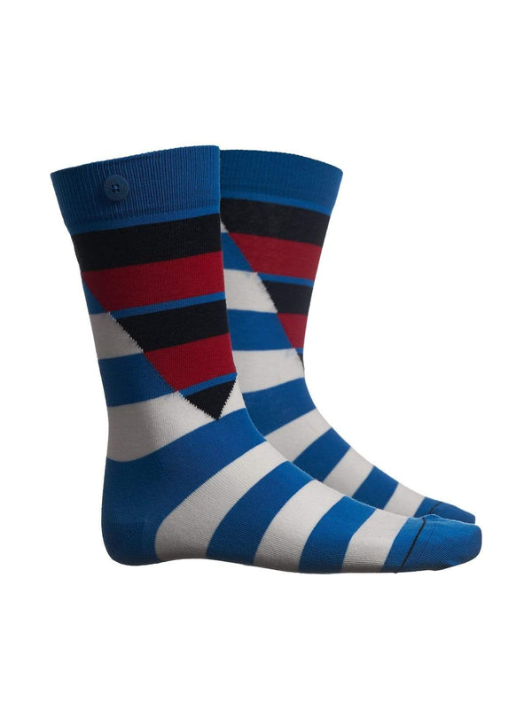 qnoop Mens socks Hockney - cycle blue