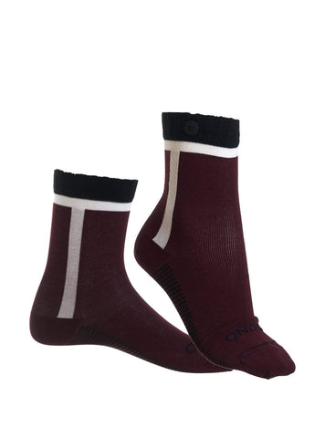 Calgary - socks - wine red