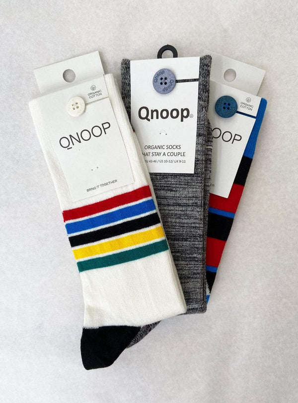 Qnoop socks Stripe - socks - tropical stripe off white