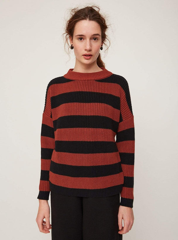 Rita Row sweater Stripes - sweater - red/black