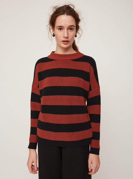 Stripes - sweater - red/black