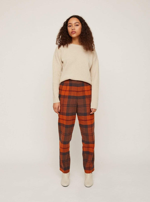 Rita Row trousers Checkered - trouser - red/black